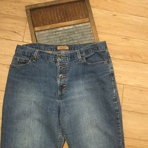 Vintage 1980's Zena Baggy Button Fly Jeans Size 14